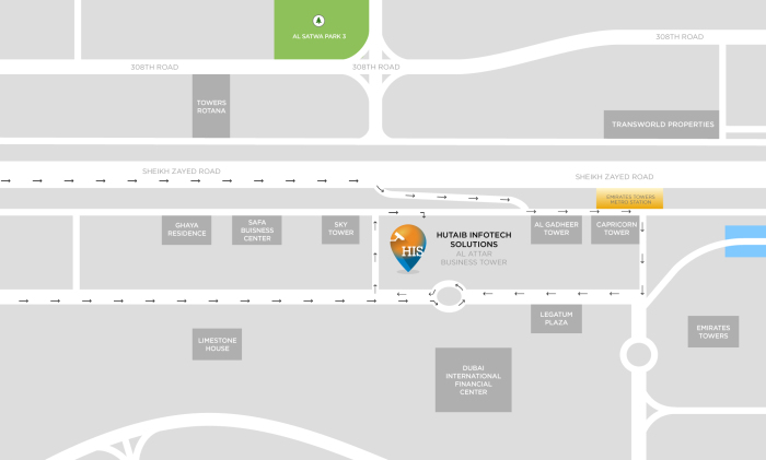 Dubai Office - Location Map