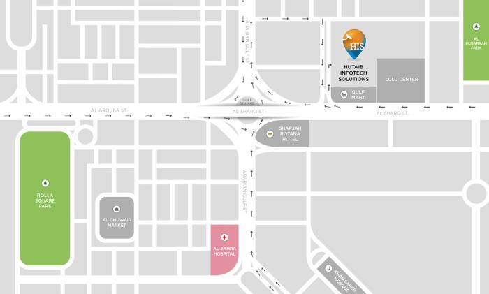 Sharjah Office - Location Map