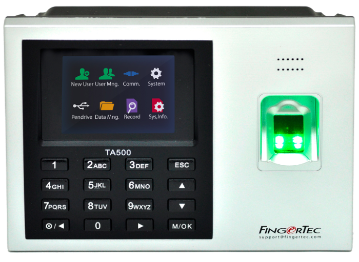 Biometrics machine like TA500 is not intrusive and can record attendance in less than 2 seconds