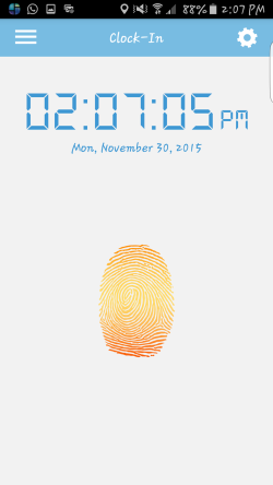 Touch that fingerprint to clock-in and clock-out, it's that easy!